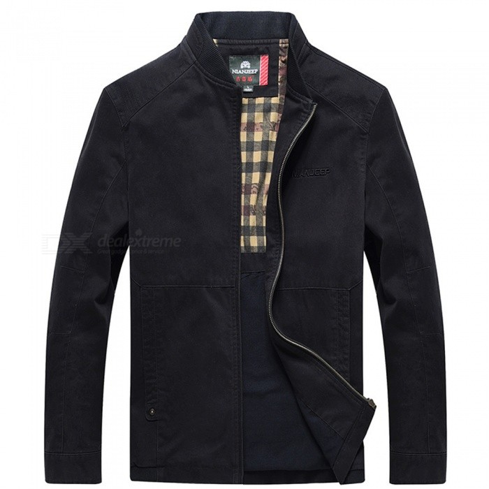 99766 Outdoor Fashion Chic Mens Zipper Cotton Jacket Coat for Spring Autumn Winter - Black (3XL)Jackets and Coats<br>Form  ColorBlackSizeXXXLModel99766Quantity1 DX.PCM.Model.AttributeModel.UnitShade Of ColorBlackMaterialCotton and polyesterStyleFashionTop FlyZipperShoulder Width52.5 DX.PCM.Model.AttributeModel.UnitChest Girth128 DX.PCM.Model.AttributeModel.UnitWaist Girth128 DX.PCM.Model.AttributeModel.UnitSleeve Length65.5 DX.PCM.Model.AttributeModel.UnitTotal Length75 DX.PCM.Model.AttributeModel.UnitSuitable for Height183 DX.PCM.Model.AttributeModel.UnitPacking List1 x Coat<br>