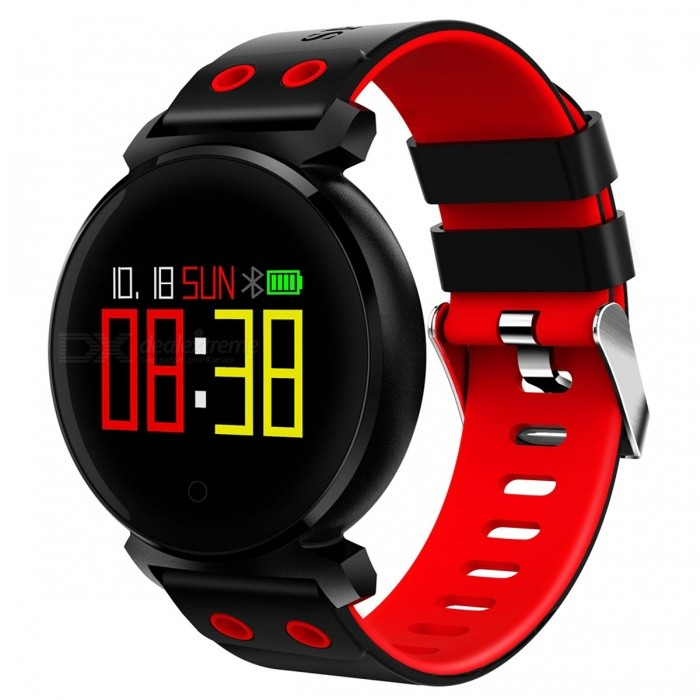 K2 IP68 Waterproof 0.95 OLED Color Screen Smart Bracelet with Oxygen Detection, Blood Pressure Monitor - RedSmart Bracelets<br>Form  ColorRed + MulticoloredQuantity1 DX.PCM.Model.AttributeModel.UnitMaterialABSShade Of ColorRedWater-proofIP68Bluetooth VersionBluetooth V4.0Touch Screen TypeYesCompatible OSAndroid system 4.4 version or above ;iOS system 8.0 version or above ;Support  bluetooth with 4.0 versionBattery Capacity200 DX.PCM.Model.AttributeModel.UnitBattery TypeLi-polymer batteryStandby Time10-15 DX.PCM.Model.AttributeModel.UnitForm  ColorRed + MulticoloredPacking List1 x Smart Bracelet1 x User Manual 1 x USB Charger<br>