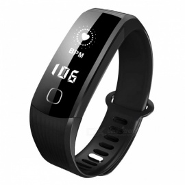 "B21 0.96"" OLED Bluetooth Smart Bracelet with Health Monitoring, Heart Rate Monitor, Pedometer - Black"