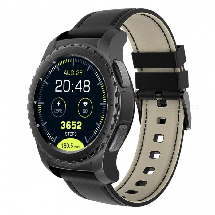 KW28 GPS SIM 1.3 Round Screen Smart Watch, Support TF Card Music, Bluetooth Heart Rate Monitor