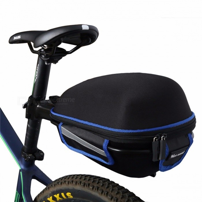 WEST BIKING Waterproof Bicycle Rear Bag with Rain Cover, Portable Cycling Tail Extending Bike Saddle Bag