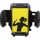 Universal Adjustable Car Rear Vew Mirror Mount Phone GPS Holder Bracket for Safe Driving - Black