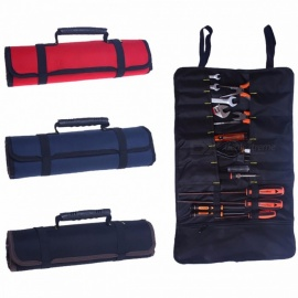 Hoomall Multifunctional Oxford Canvas Chisel Roll Rolling Repairing Tool, Practical Utility Bag with Carrying Handles Black