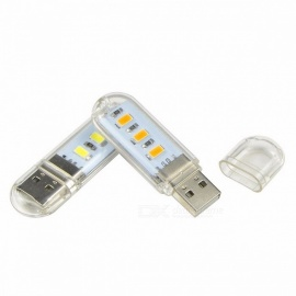 New Mini USB LED Night Light, Camping Lamp for Reading Bulb, Laptops, Computer, Notebook, Mobile Power Charger White Light