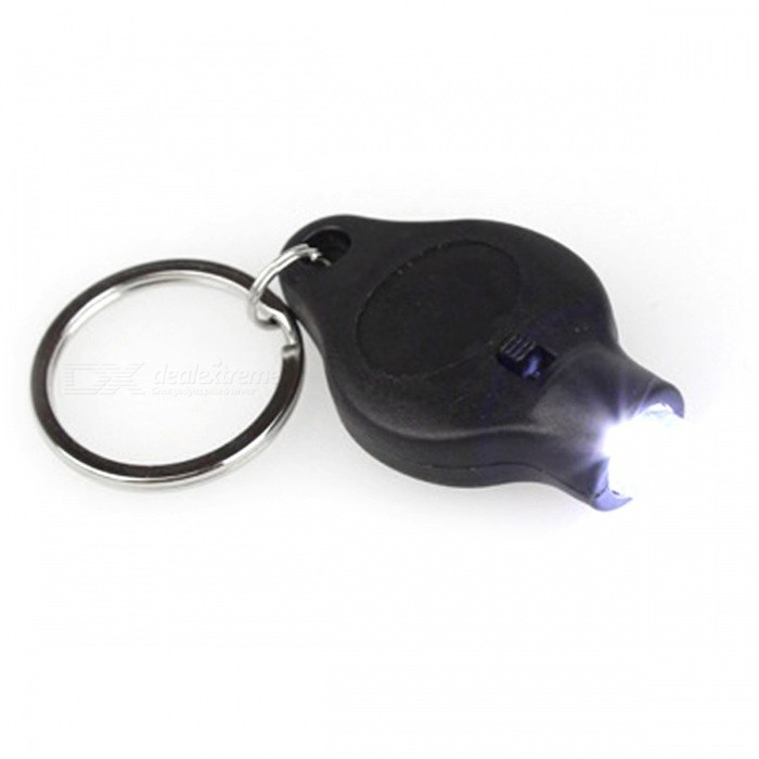 Buy Portable LED Keychain Flashlight Torch, Keyring w/ White Light - Black with Litecoins with Free Shipping on Gipsybee.com