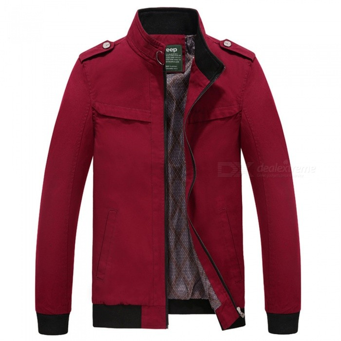 7715 Outdoor Mens Stylish Slim Cotton Jacket Coat - Wine Red (L)Jackets and Coats<br>Form  ColorClaret RedSizeLModel7715Quantity1 DX.PCM.Model.AttributeModel.UnitShade Of ColorRedMaterialSurface and polyesterStyleFashionTop FlyZipperShoulder Width46.5 DX.PCM.Model.AttributeModel.UnitChest Girth110 DX.PCM.Model.AttributeModel.UnitWaist Girth110 DX.PCM.Model.AttributeModel.UnitSleeve Length62.5 DX.PCM.Model.AttributeModel.UnitTotal Length67 DX.PCM.Model.AttributeModel.UnitSuitable for Height175 DX.PCM.Model.AttributeModel.UnitPacking List1 x Coat<br>