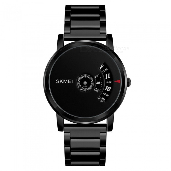 Buy SKMEI 1260 Men's 30 Waterproof Full Steel Fashion Quartz Watch - Black with Litecoins with Free Shipping on Gipsybee.com