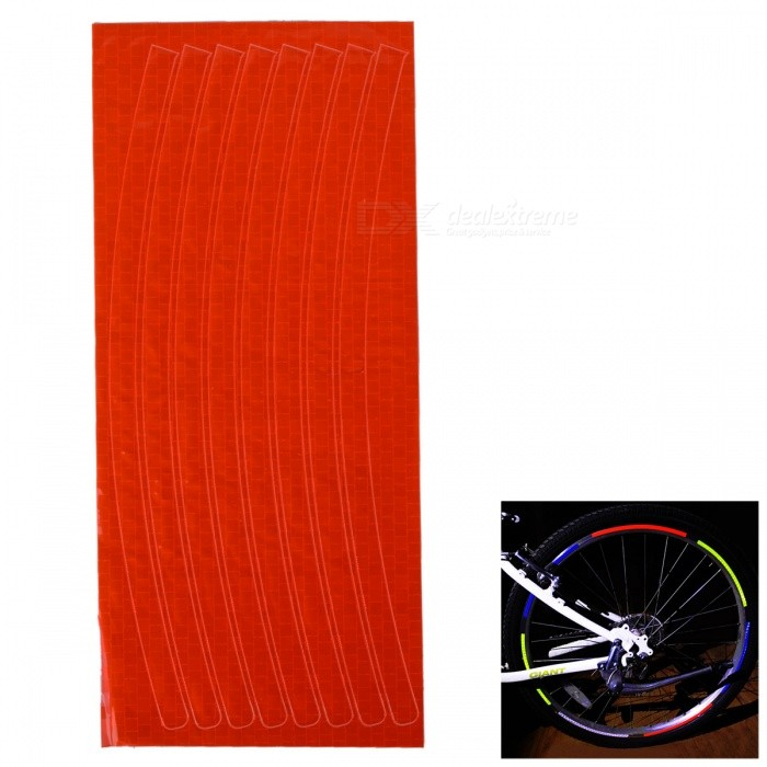 Buy Bicycle Decorative Cool Reflective Stickers Bike Wheel Sticker for 26 Inches Mountain Bike - Orange Red with Litecoins with Free Shipping on Gipsybee.com