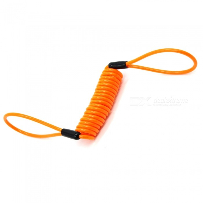 Buy IZTOSS PJ-2919 Automatic Lock Reminder Rope, Motorcycle Disc Brake Safety Spring Wire Cable - Orange (1.5m) with Litecoins with Free Shipping on Gipsybee.com