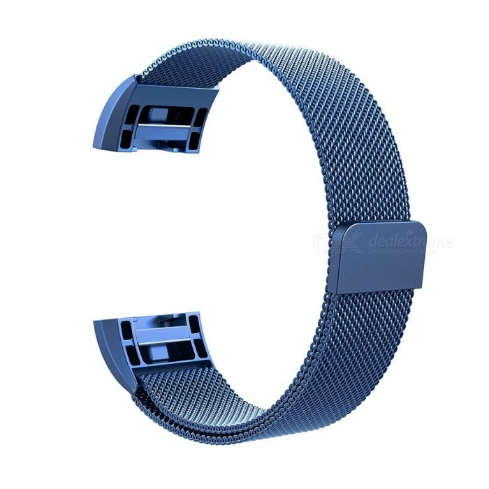 Miimall Milanese Loop Stainless Steel Watch Wrist Replacement Band for Fitbit Charge 2 - BlueWearable Device Accessories<br>Form  ColorBlueModelFibit Charge 2 BandsQuantity1 DX.PCM.Model.AttributeModel.UnitMaterialStainless SteelForm  ColorBluePacking List1 x Milanese Loop Stainless Steel Fitbit Charge 2 Band ( Blue )<br>
