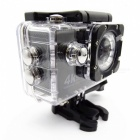 "Portable Waterproof HD 4K 16MP 4.0X Zooming Wi-Fi 2"" Action Sports Camera - Black + White"