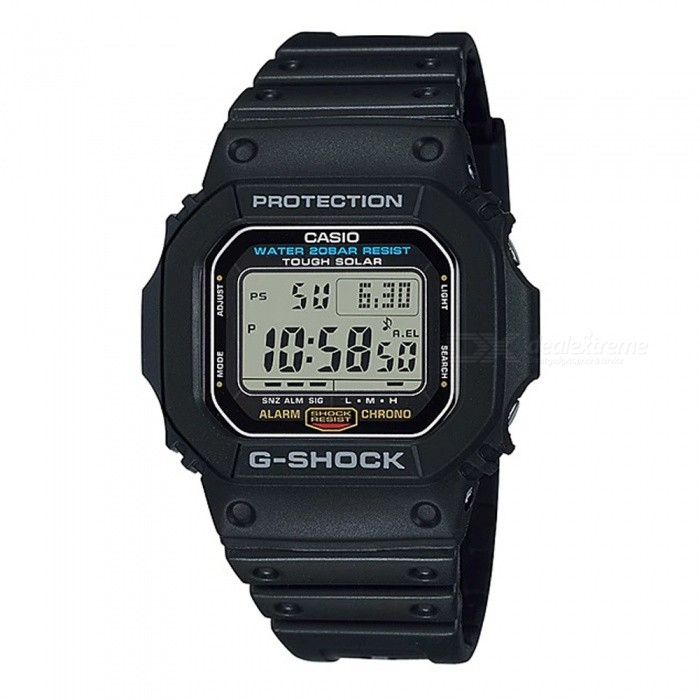 Casio G-Shock G-5600E-1 Tough Solar Men's Digital Watch - Black