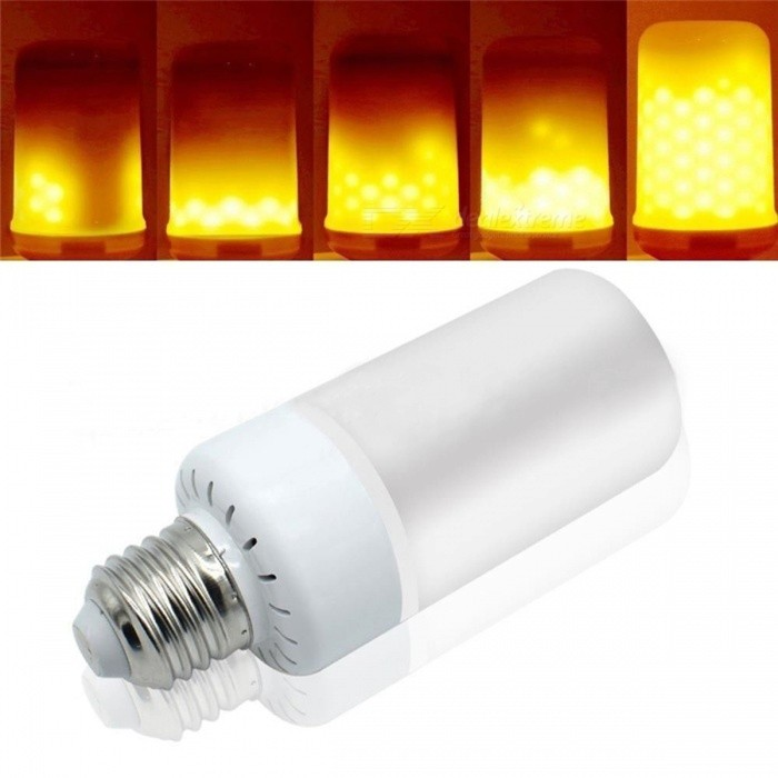 JRLED E27 5W 2835SMD 99-LED 3-Mode Super Bright Yellow Flame Lamp, AC110-220V