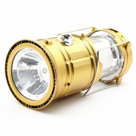 Portable-Extendable-7-LED-Solar-Powered-Camping-Tent-Lantern-Lamp-Flashlight-for-Outdoors-Golden