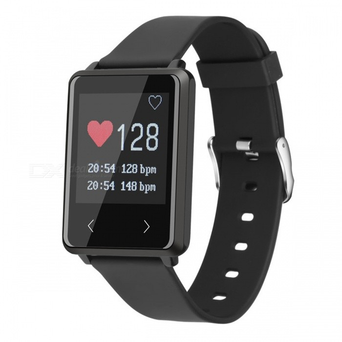 Z8 Smart Bluetooth Bracelet Hand Loop w/ Heart Rate Sleep Monitor, Step Counter, Message Alerting for Android IOS - Black