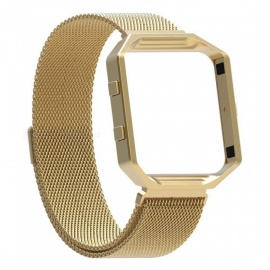 Miimall-Fitbit-Blaze-Accessories-Band-Milanese-Stainless-Steel-Bracelet-Strap-Band-with-Frame-Housing-for-Fitbit-Blaze