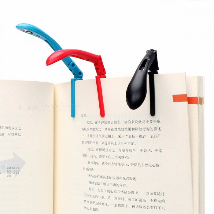 ITimo Clip-on Book Reading Lamp with Battery, Adjustable Flexible Folding LED Book Light for Reader Kindle