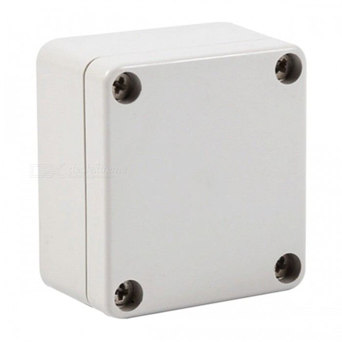 ZHAOYAO 63 x 57 x 35mm Waterproof Plastic Enclosure Box Housing, Electronic Project Instrument CaseDIY Parts &amp; Components<br>Form  ColorWhiteQuantity1 DX.PCM.Model.AttributeModel.UnitMaterialPlasticEnglish Manual / SpecNoCertificationNOPacking List1 x Waterproof junction box<br>