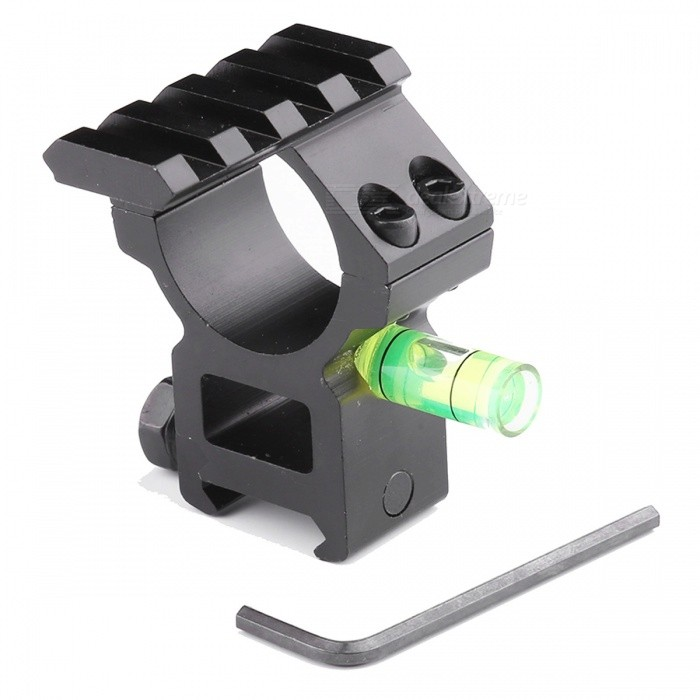 ACCU Aluminum Alloy Tactical 20mm Gun Mount with Spirit Level / Single 20mm Rail for 30mm BarrelsGun Mounts/Rails<br>Form  ColorBlackMaterialAluminum AlloyQuantity1 DX.PCM.Model.AttributeModel.UnitGun TypeFor 20mm rail gunRail Size20mmMount TypeWeaver,Pica-tinnyRing Diameter30mmPacking List1 x Mount1 x Hex wrench<br>