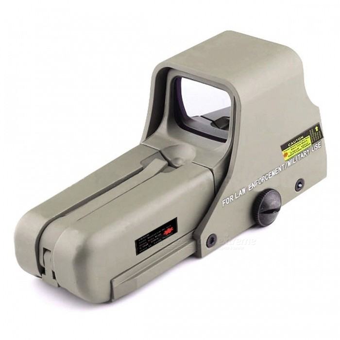 OUMILY Red and Green Dot Sight Airsoft Reflex Sight, Supports 20mm Rail Mount - Khaki