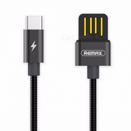 REMAX Metal Spring 2.1A Dual Side USB3.1 Type-C to USB Fast Charging Data Cable for Macbook / Xiaomi 4C / Samsung S8 1m