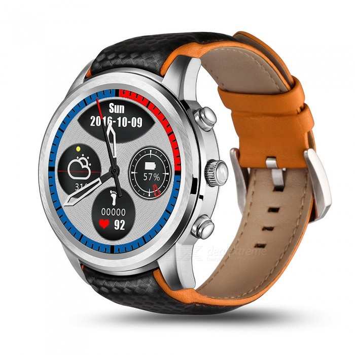 LEMFO LEM5 1.39 3G Smartwatch Phone with 1GB RAM, 8GB ROM - SilverSmart Watches<br>Form  ColorSilverModelLEM5Quantity1 DX.PCM.Model.AttributeModel.UnitShade Of ColorWhiteCPU ProcessorMTK6580 1.3GHz,Quad CoreScreen Size1.39 DX.PCM.Model.AttributeModel.UnitScreen Resolution400*400Touch Screen TypeYesNetwork Type2G,3GCellularWCDMA,CDMA2000,GSMSIM Card TypeNano SIMBluetooth VersionBluetooth V4.0Operating SystemAndroid 5.1Compatible OSios 9LanguageChinese Chinese simplified, traditional, English, French, German, Spanish, Portuguese, Italian, Dutch, Russian, polish, Turkish, Korean, Hebrew, Malay, Indonesian Vietnamese Thai India Arabia Persian Burmese LanguageWristband Length23 DX.PCM.Model.AttributeModel.UnitWater-proofYesBattery ModeNon-removableBattery TypeLi-ion batteryBattery Capacity450 DX.PCM.Model.AttributeModel.UnitStandby Time100 DX.PCM.Model.AttributeModel.UnitCertificationCEPacking List1 x Cell Phone1 x Charging Dock1 x Battery: 450mAh Built-in 1 x USB Cable 1 x English Manual<br>