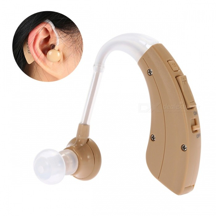 BSTUO Mini Behind Ear Hearing Aid Volume Adjustable Ear Sound Amplifier Hearing Assistance