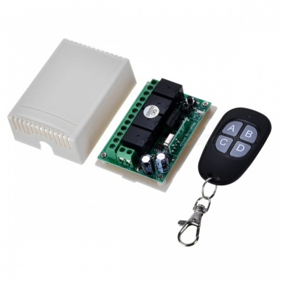 KJ-103-433MHz-DC12V Four-Way Wireless Electric Switch Waterproof Remote Controller for Door / Garage Gate
