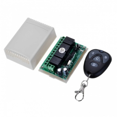 KJ-106-433MHZ-DC12V Four-Way Wireless Electric Switch Remote Controller for Door Garage Gate Car Tailgate