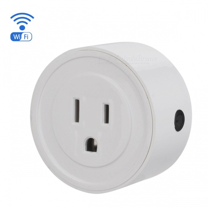 Eastor V1 Smart Wi-Fi Mini Socket APP Remote Control Timing Switch, Support Amazon Alexa Google Home Vocie Control - White