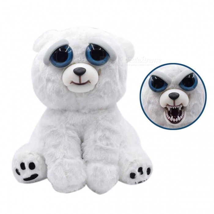 Mischievous Adorable Cute Angry Face Changing Plush Doll Toy Gift for Children - WhiteDolls and Stuffed Toys<br>Form  ColorWhiteMaterialPlushQuantity1 DX.PCM.Model.AttributeModel.UnitSuitable Age 3-6 months,6-9 months,9-12 monthsPacking List1 x Doll<br>