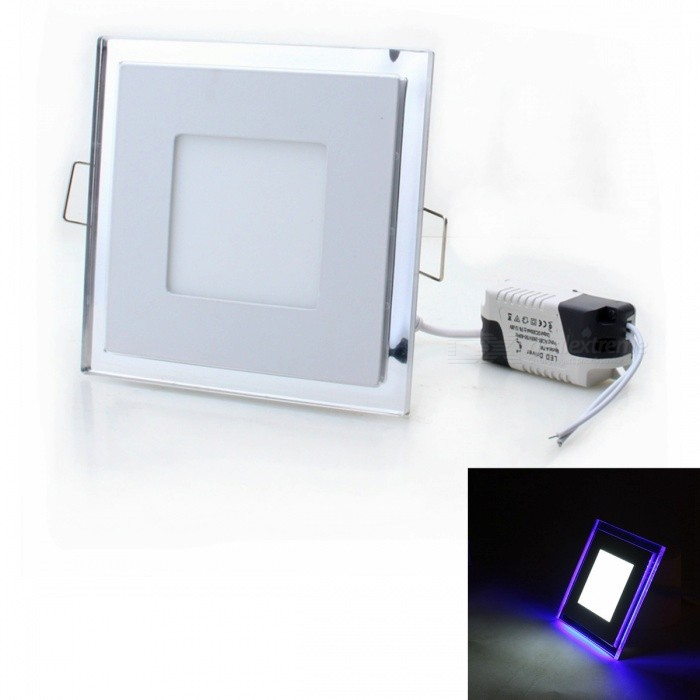 ZHISHUNJIA 10W 700lm 6500K 52-LED White + Blue Light Square Flat Lamp w/ LED Driver (AC 85~265V)Ceiling Light<br>Form  ColorSquare: 10W SynchronizationColor BINWhite + BlueModelTB-SQ-10WQuantity1 DX.PCM.Model.AttributeModel.UnitMaterialaluminium alloyPower10WRated VoltageAC 85-265 DX.PCM.Model.AttributeModel.UnitChip BrandOthers,LEDChip Type3528Emitter Type3528 SMD LEDTotal Emitters52Theoretical Lumens900 DX.PCM.Model.AttributeModel.UnitActual Lumens700 DX.PCM.Model.AttributeModel.UnitColor Temperature5000KDimmableNoBeam Angle180 DX.PCM.Model.AttributeModel.UnitWavelengthNOExternal Diameter130 DX.PCM.Model.AttributeModel.UnitHole diameter90 DX.PCM.Model.AttributeModel.UnitHeight1.5 DX.PCM.Model.AttributeModel.UnitPacking List1 x Bulb Lamp<br>