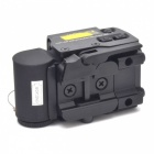 OUMILY Red and Green Dot Sight Airsoft Reflex Sight Supports 20mm Rail Mount Can Be Quick Release - Black