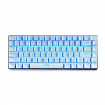AJAZZ AK33 Alloy Suspended Game Mechanical Keyboard 82-Button with Backlight - Black Switch