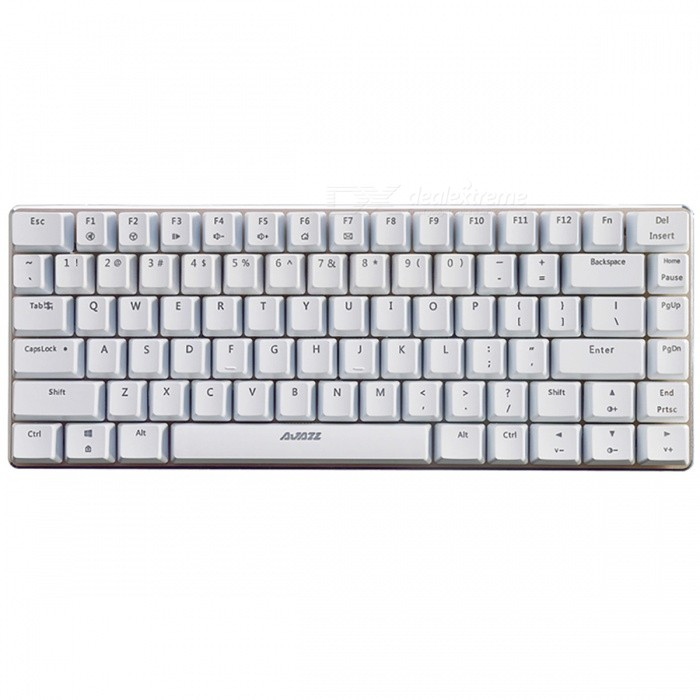 AJAZZ AK33 Portable Blue Axis 82-Key Mechanical USB Wired Gaming Keyboard with No BacklightGaming Keyboards<br>Form  ColorWhiteModelAK33 No LightMaterialPlastic cementQuantity1 DX.PCM.Model.AttributeModel.UnitInterfaceUSB 3.0,USB 2.0Wireless or WiredWiredBluetooth VersionNoCompatible BrandAPPLE,Dell,HP,Toshiba,Acer,Lenovo,Samsung,MSI,Sony,IBM,Asus,Thinkpad,Huawei,GoogleAxis82Tracking MethodTouch PadBack-litNoAnti-ghosting KeyAllPowered ByUSBBattery included or notNoCharging Time0 DX.PCM.Model.AttributeModel.UnitWaterproofYesTypeGaming,ErgonomicSupports SystemWin xp,Win 2000,Win 2008,Win vista,Win7 32,Win7 64,Win8 32,Win8 64,MAC OS XOther Featuresblue AxisForm  ColorWhitePacking List1 x Keyboard 1 x Instruction<br>
