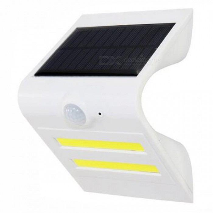 P-TOP 3.7V 150LM Solar Powered Waterproof PIR Motion Sensor Outdoor Wall Light for Garden Patio - White