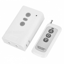 KJ-107-315MHZ 220V Mini 3-Key Remote Controller Switch for Curtain, Projection Control