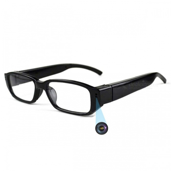 1920 x 1080 HD 1080P Mini Camera Eyewear Video Recorder - Black