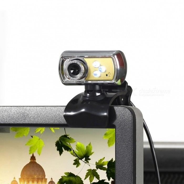 High Quality Portable HD 12MP 3-LED USB Webcam Camera With