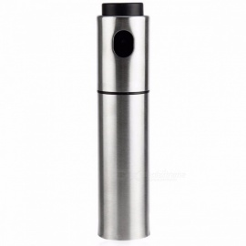YOTOP Portable Stainless Steel Fine Mist Olive Pump Spray Bottle, Oil Sprayer Pot Cooking Tool for Barbecue Silver