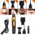 SPORTSMAN-4-In-1-USB-Rechargeable-Nose-Ear-Temple-Hair-Trimmer-Electric-Beard-Eyebrow-Hair-Removal-Clipper-Shaving-Kit-USB-Charging