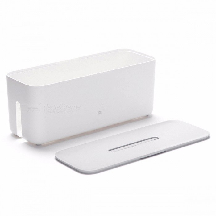 Original-Xiaomi-Mi-Power-Cord-Cable-Charger-Socket-Storage-Box-Management-Box-w-Dust-Insulation-Heat-Dissipation-Design-White