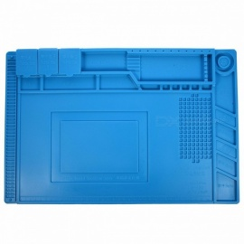 S-160-45x30cm-Heat-Insulation-Silicone-Pad-Desk-Mat-Maintenance-Platform-with-Magnetic-Section-for-BGA-Soldering-Repair-Station-blue