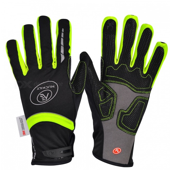 NUCKILY PD07 Unisex Winter Full Finger Cycling Touch Screen Gloves Warm Thickened Windproof Outdoor Sports Gloves - Green (XL)Gloves<br>Form  ColorGreenSizeXLModelPD07Quantity1 DX.PCM.Model.AttributeModel.UnitMaterial50% polyester 30% Nylon 20% PUTypeFull-Finger GlovesSuitable forAdultsGenderUnisexPalm Girth11.5 DX.PCM.Model.AttributeModel.UnitGlove Length27 DX.PCM.Model.AttributeModel.UnitBest UseCycling,Mountain Cycling,Recreational Cycling,Road Cycling,Triathlon,Bike commuting &amp; touringPacking List1 x Pairs of gloves<br>