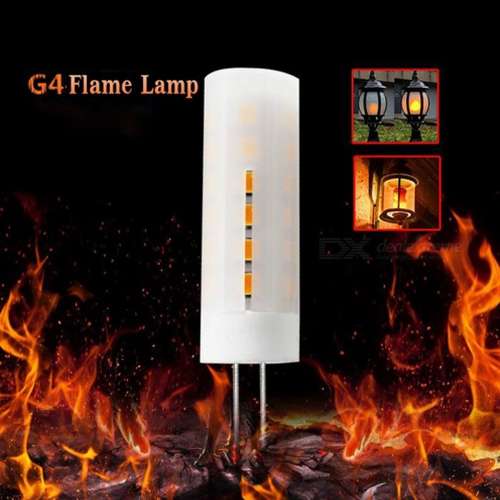 Led Flame Effect.G4 2835smd 36 Led Flame Effect Flickering Light Bulb For Decoration Ac Dc 12v