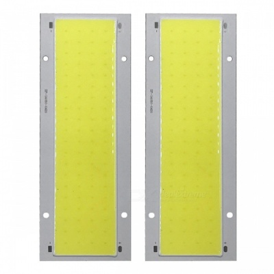 ZHAOYAO 140x50mm 30W DC 12-14V Dimmable COB LED Chip - White Light (2PCS)