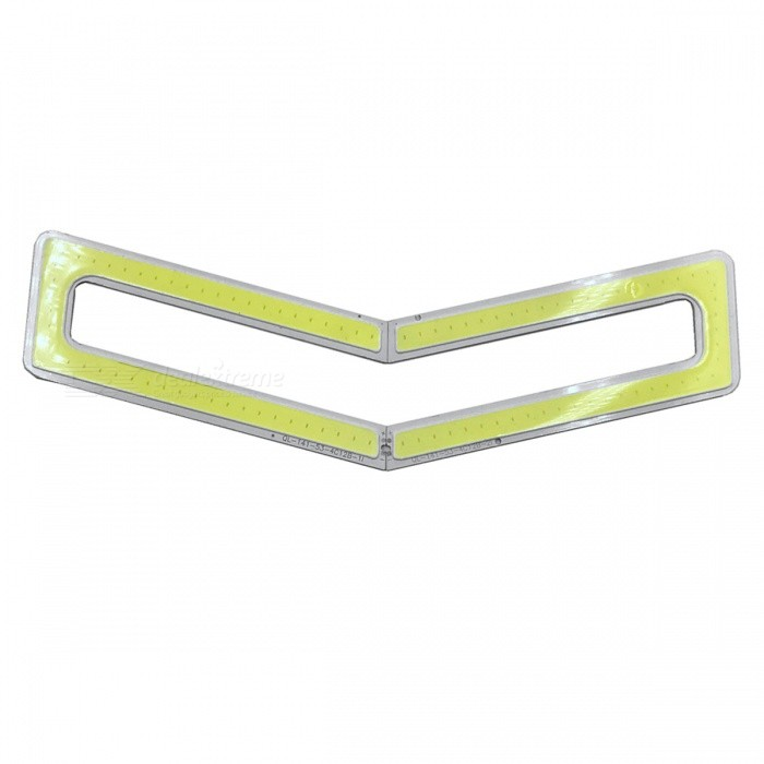 ZHAOYAO 141x53mm 8W DC 12-14V Dimmable COB LED Lights - Cold White (2 PCS)Leds<br>Form  ColorYellow + White + Multi-ColoredColor BINCold WhiteMaterialAluminumQuantity2 DX.PCM.Model.AttributeModel.UnitPower8 DX.PCM.Model.AttributeModel.UnitRate VoltageDC 12-14VWorking Current600 DX.PCM.Model.AttributeModel.UnitDimmableYesEmitter TypeCOBTotal Emitters1Beam Angle180 DX.PCM.Model.AttributeModel.UnitColor Temperature12000K,Others,5500-7000KActual Lumens0-850 DX.PCM.Model.AttributeModel.UnitConnector TypeOthers,WeldingPacking List2 x COB LED Lights<br>