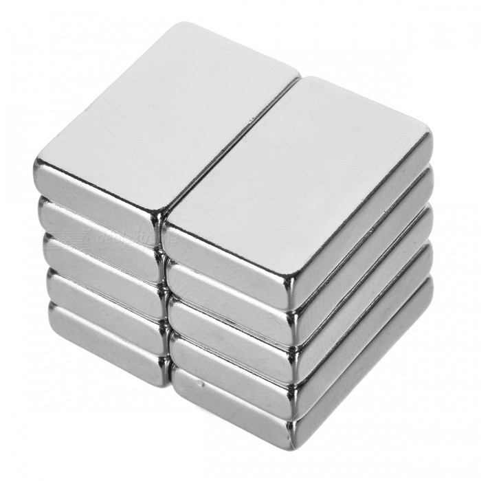25*15*5mm Rectangular Strong NdFeB Magnets - Silver (10 PCS)