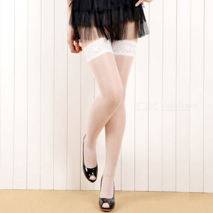 Fanshimite Sexy Lace Translucent Thin Stockings for Women - WhiteSocks and Leg wear<br>Form  ColorWhiteModelZJ001133Quantity1 DX.PCM.Model.AttributeModel.UnitShade Of ColorWhiteMaterialSpandexStyleFashionSeasonsFour SeasonsSock Length of Foot23 DX.PCM.Model.AttributeModel.UnitSock Girth of Foot22 DX.PCM.Model.AttributeModel.UnitSock Length of Leg60 DX.PCM.Model.AttributeModel.UnitSock Girth of Leg40 DX.PCM.Model.AttributeModel.UnitPacking List1 x Stockings<br>