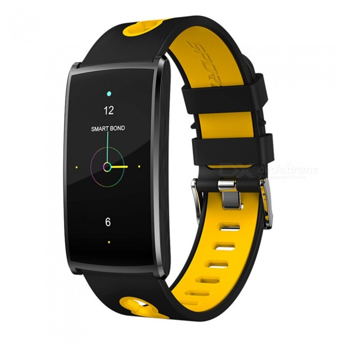 HM68 PLUS Waterproof Color Screen Smart Bracelet w/ Step By Step Multi-Sport Mode, Heart Rate Blood Pressure Monitor - YellowSmart Bracelets<br>Form  ColorYellowModelHM68 PLUSQuantity1 DX.PCM.Model.AttributeModel.UnitMaterialSilica gelShade Of ColorYellowWater-proofIP67Bluetooth VersionBluetooth V4.0Touch Screen TypeIPSOperating SystemAndroid 4.4,iOSCompatible OSAndroid IOSBattery Capacity80 DX.PCM.Model.AttributeModel.UnitBattery TypeLi-ion batteryStandby Time15 DX.PCM.Model.AttributeModel.UnitPacking List1 x Smart Bracelet1 x User handbook1 x Charger<br>